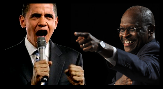Obama debate with Herman Cain