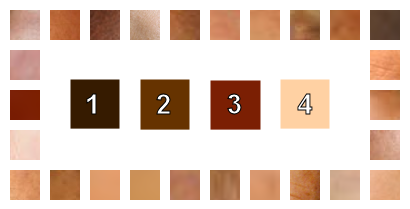 skin color on white